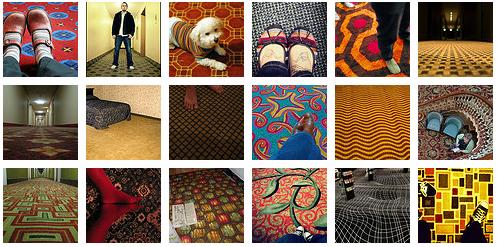 Migraine-inducing carpet
